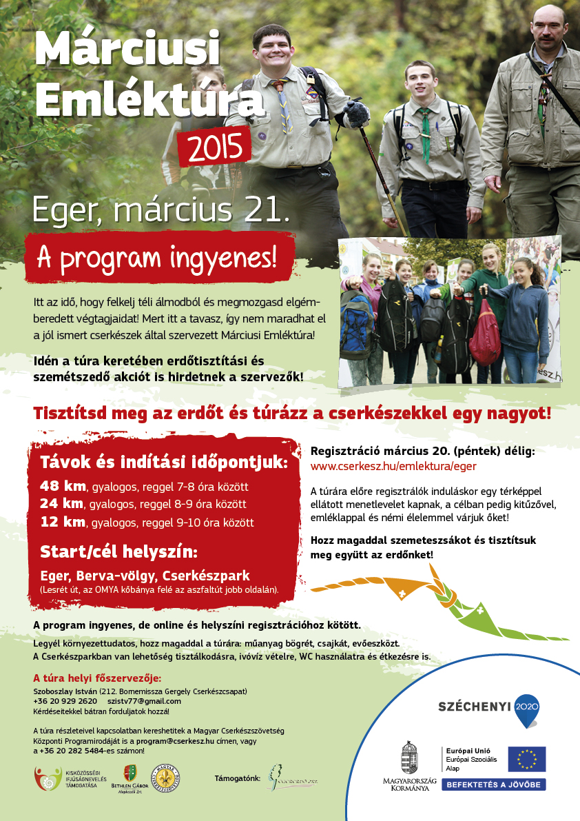 Márciusi emléktúra plakát Eger